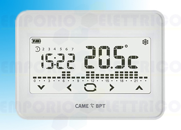 came bpt Touchscreen wifi Uhrenthermostat Unterputzmontage th/550 wh 845aa-0060
