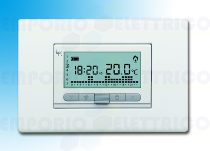 came digitaler Uhrenthermostat Unterputzmontage weiß th/350 69409100