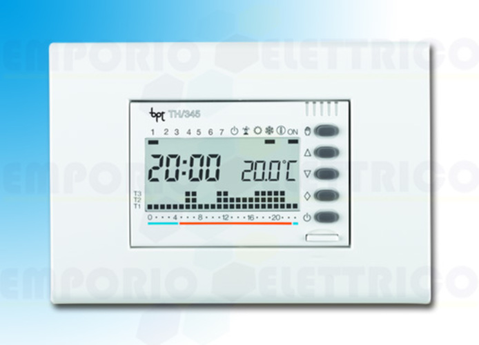 came digitaler Uhrenthermostat Unterputzmontage in weiß th/345 bb 69405300